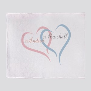 Twin Hearts to Personalize Throw Blanket
