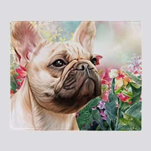 French Bulldog Painting Throw Blanket