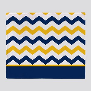 Navy Blue And Yellow Blankets Cafepress