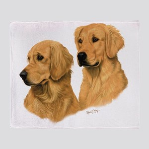 19215c245313 Golden Retriever Blankets - CafePress