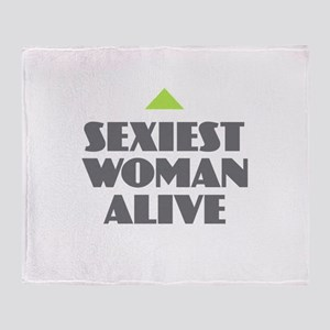 Sexiest Woman Alive Throw Blanket