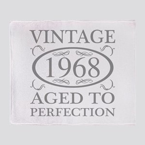 1968 Aged To Perfection Throw Blanket