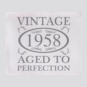 1958 Aged To Perfection Throw Blanket