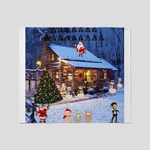Log Cabin Christmas.Log Cabin Blankets Cafepress