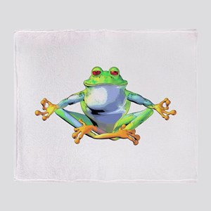 frogzen Throw Blanket