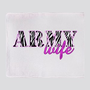 Army Wife Zebra Throw Blanket
