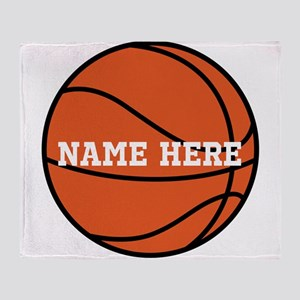 Customize a Basketball Throw Blanket