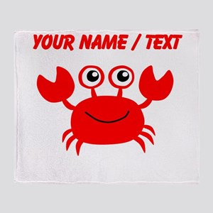 Custom Red Crab Throw Blanket