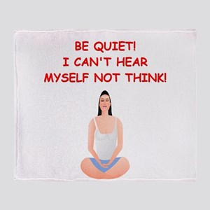 meditation Throw Blanket