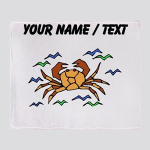 Custom Orange Crab Throw Blanket