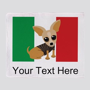 1e10579c27a7 Chihuahua Dog Mexican Flag Cute Throw Blanket