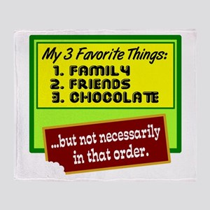 Favorite Things/Chocolate Throw Blanket