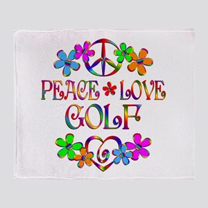 Peace Love Golf Throw Blanket