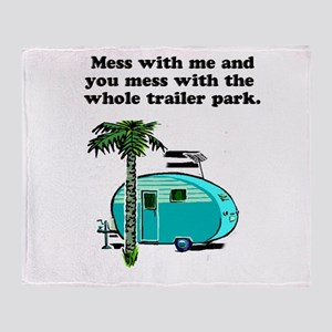 trailer park Throw Blanket