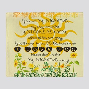 You are my sunshine! Throw Blanket