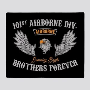 101st Airborne Brothers Forever Throw Blanket