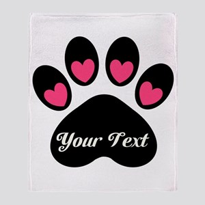 f20a8eb06839 Personalizable Paw Print Throw Blanket