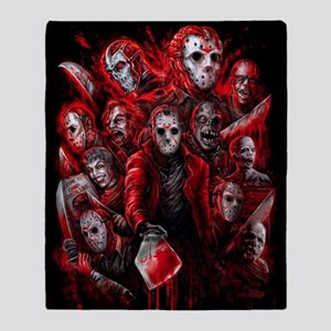 12 Jasons Friday the 13th Throw Blanket