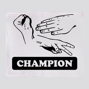 0105a8e6 Rock Paper Scissors Champion Throw Blanket