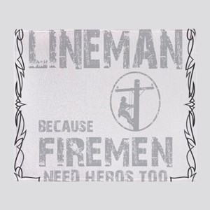 lineman because 1 Throw Blanket