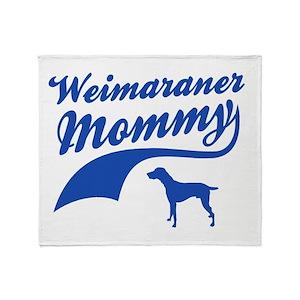 Weimaraner Mommy Throw Blanket
