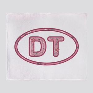 DT Pink Throw Blanket