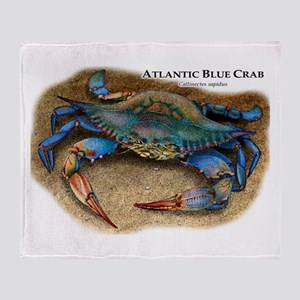 Atlantic Blue Crab Throw Blanket