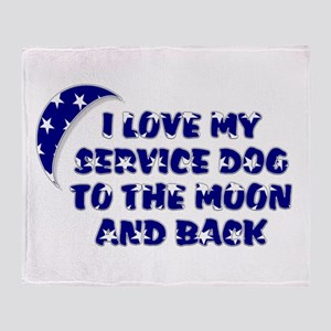 SERVICE DOG SHOP Throw Blanket