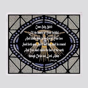 Come Holy Spirit Prayer Mosaic Throw Blanket