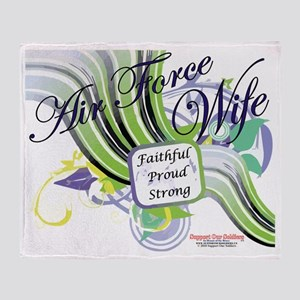 air force wife swish yellow Throw Blanket