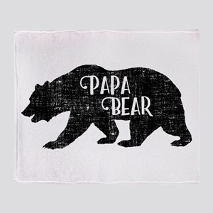 Papa Bear - Family Shirts Throw Blanket