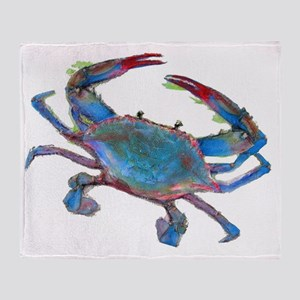Chesapeake Bay Blue Crab Throw Blanket