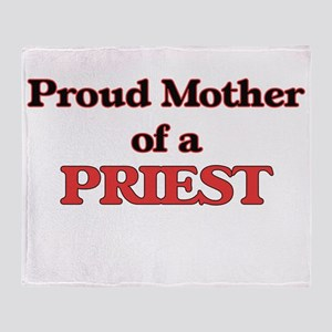 Proud Mother of a Priest Throw Blanket