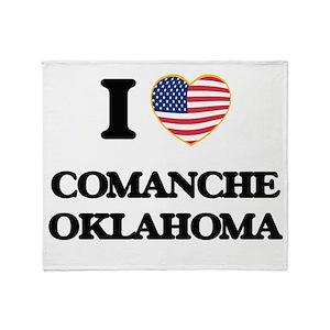 I love Comanche Oklahoma Throw Blanket