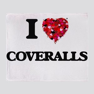 I love Coveralls Throw Blanket
