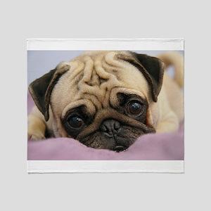 Pug Blankets - CafePress