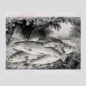 American brook trout - 1872 Throw Blanket