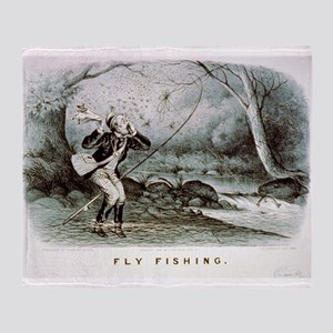 Fly fishing - 1879 Throw Blanket