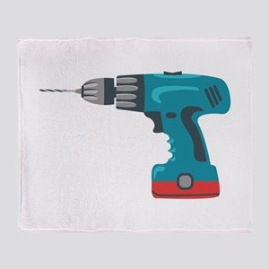 Power Drill Throw Blanket