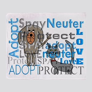 Spay Neuter Adopt 2 Throw Blanket