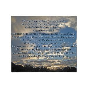 Beautiful Psalm 23 Throw Blanket