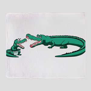 Alligator Family Throw Blanket