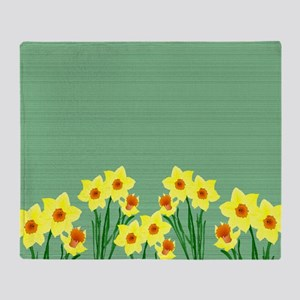 Daffodils Throw Blanket