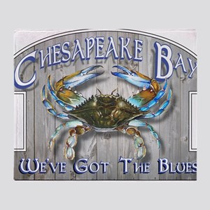 Chesapeake Bay Blues Throw Blanket