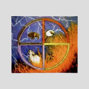 8cdefe6b6409a Native American Medicine Wheel Blankets - CafePress