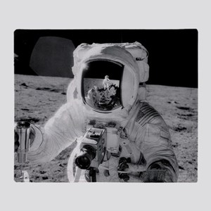 7f44f1a471af1 Apollo 12 Astronauts explore the Moo Throw Blanket
