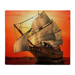 Sail boat Throw Blanket