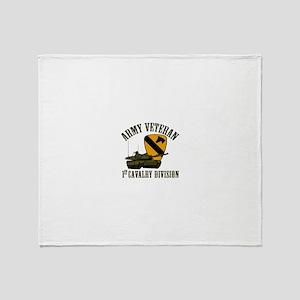 1ST Cavalry Division Veteran Throw Blanket