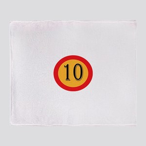 Number 10 Throw Blanket