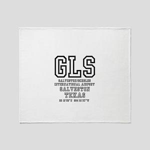 AIRPORT CODES - GLS - GALVESTON~SCHO Throw Blanket